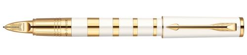 Ручка-5й пишущий узел Parker Ingenuity S F503 Ring Pearl&Metal