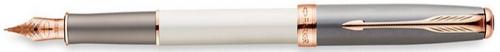 Перьевая ручка Parker Sonnet F533 Subtle Pearl & Grey