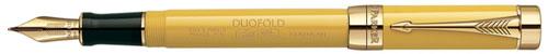 Перьевая ручка Parker Duofold Mandarin Yellow F100